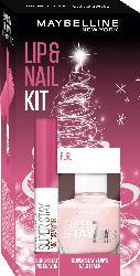 Maybelline New York Geschenkset Lippenstift Super Stay Ink Crayon 30 + Nagellack Superstay 7 Days 286 - mit Preisvorteil