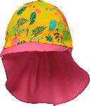 dm-drogerie markt PUSBLU Mütze mit Nackenschutz, Gr. 52/53, in Bio-Baumwolle und Elasthan, pink, orange, für Mädchen