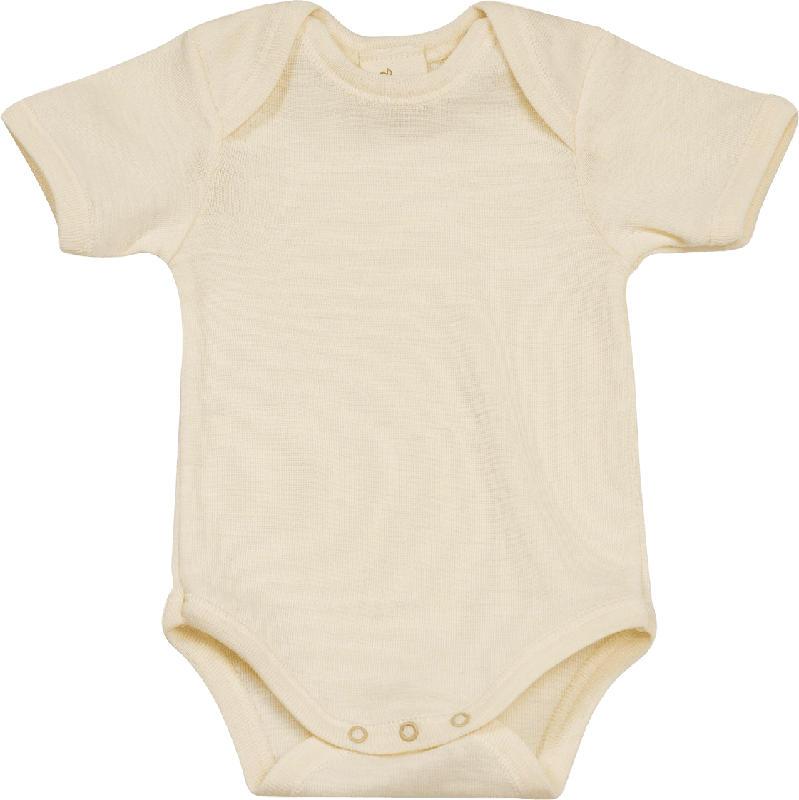 ALANA Baby Body, Gr. 86/92, in Bio-Wolle und Seide, natur, für Mädchen und Jungen
