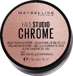 Maybelline New York Highlighter Face Studio Chrome Jelly 30 Metallic Bronze