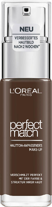 L'ORÉAL PARIS Make-up Perfect Match Hautton-Anpassendes Make-Up 12.N Ebony
