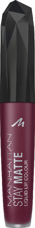 MANHATTAN Cosmetics Lipgloss Stay Matte Liquid Lip Colour Upper East Plum 610