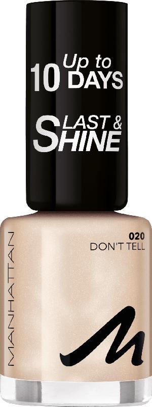 MANHATTAN Cosmetics Nagellack Last & Shine Don't tell 020