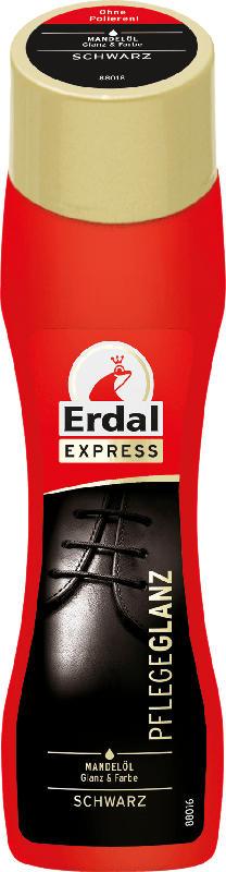 Erdal Schuhcreme Schuhschwamm Express Pflegeglanz Schwarz