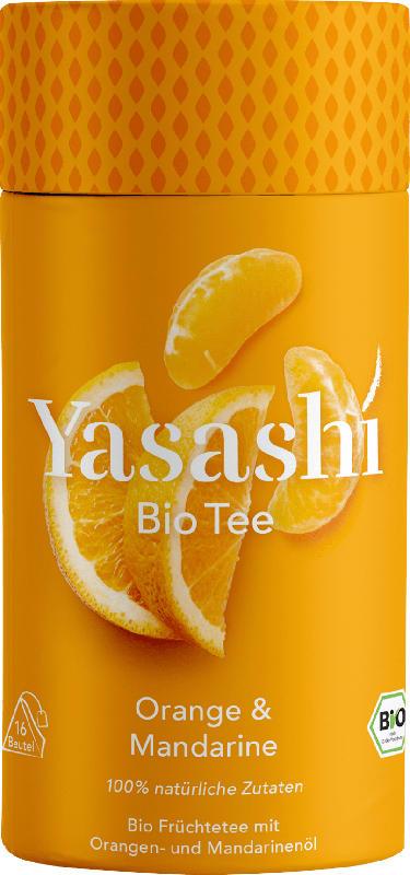 Yasashi Bio Früchtetee mit Orangen- und Mandarinen-Öl