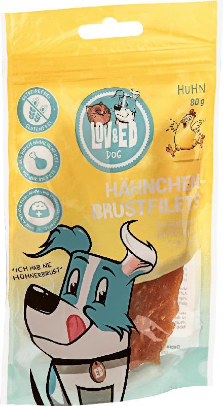 LOV&ED Snack für Hunde, natürliches Hähnchenbrustfilet
