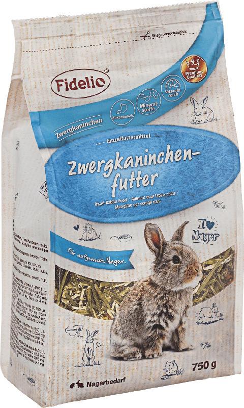 FIDELIO Hauptfutter für Zwergkaninchen