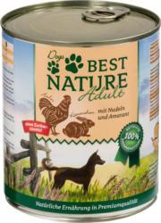 Dogs Best Nature Nassfutter für Hunde, Adult, Kaninchen + Huhn