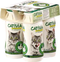 Cativia Snack für Katzen, Katzenmilch, 4x95 ml