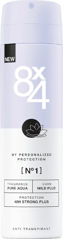 8x4 women Deo Spray Antitranspirant No.1 Pure Aqua