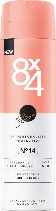 8x4 women Deo Spray Deodorant No.14 Floral Breeze
