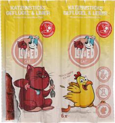 LOV&ED Snack für Katzen, Sticks, Geflügel und Leber