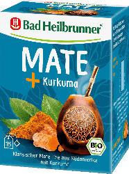 Bad Heilbrunner Kräuter-Tee, Mate Tee mit Kurkuma (15 x 2 g)