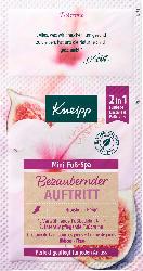Kneipp Fuß-Bad & Fuß-Creme Set, Mini-Fuß-Spa (2in1) bezaubernder Auftritt mit Hibiskus & Feige