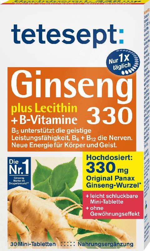 tetesept Ginseng 330 Mini Tabletten (30 Stück)