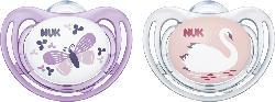 Nuk Beruhigungssauger Freestyle 2.1 aus Silikon, Größe 1, 0-6 Monate, Mädchen