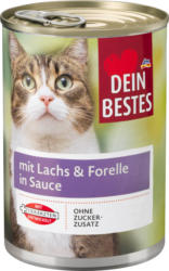 Dein Bestes Nassfutter für Katzen mit Lachs & Forelle, in Sauce