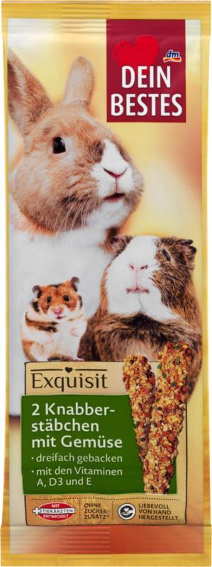 Dein Bestes Exquisit, Snack für Nager, Knabberstäbchen mit Gemüse, 2 St.