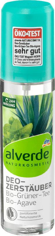 alverde NATURKOSMETIK Deo Zerstäuber Bio-Grüner Tee & Bio-Agave