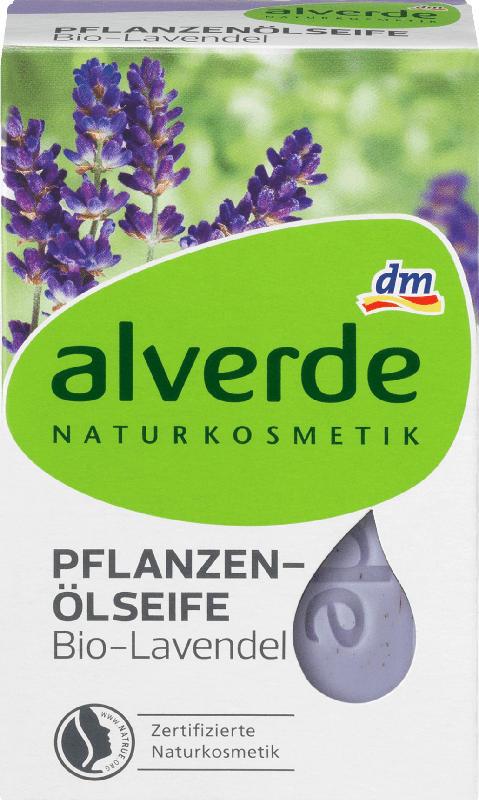 alverde NATURKOSMETIK Seifenstück Pflanzenöl Lavendel