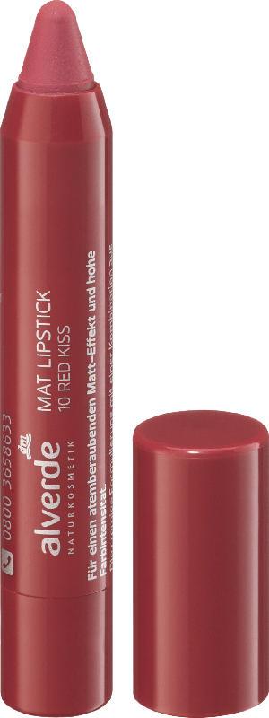 alverde NATURKOSMETIK Lippenstift Matt Red Kiss 10