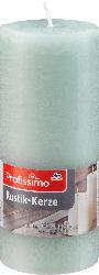 Profissimo Stumpenkerze Rustik polargrün 160/68