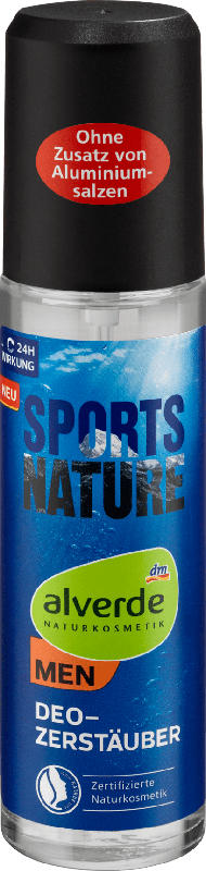 alverde MEN Sports Nature Deo Zerstäuber