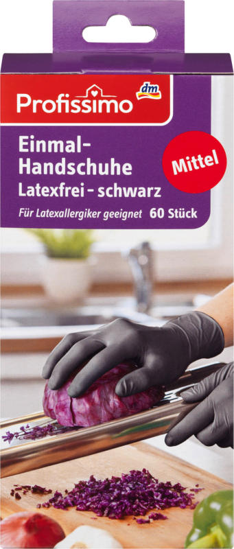 Profissimo Einmalhandschuhe latexfrei schwarz M