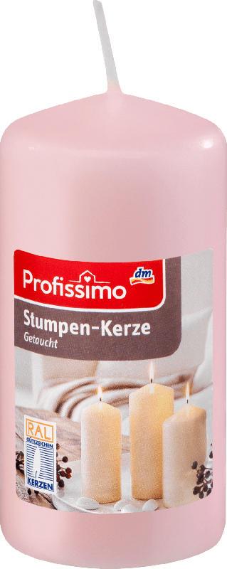 Profissimo Stumpenkerze rosé 100/50