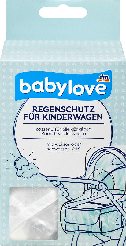 babylove Regenschutz für Kinderwagen