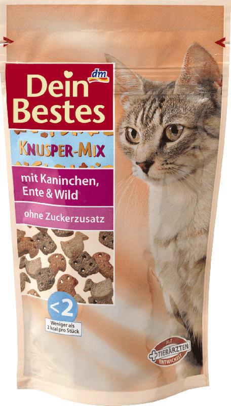 Dein Bestes Snack für Katzen, Knusper-Mix mit Kaninchen, Ente & Wild