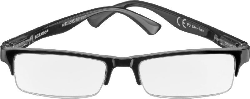 VISIOMAX Lesebrille schwarz Dioptrie +2,0