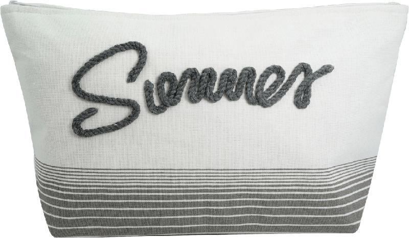 """Soapland Kulturbeutel """"Summer"""" weiß-grau mit Streifen"""