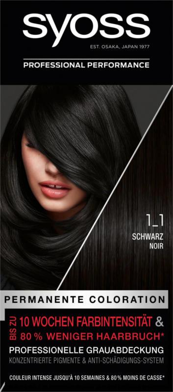 Syoss Haarfarbe Schwarz 1-1, 1 St