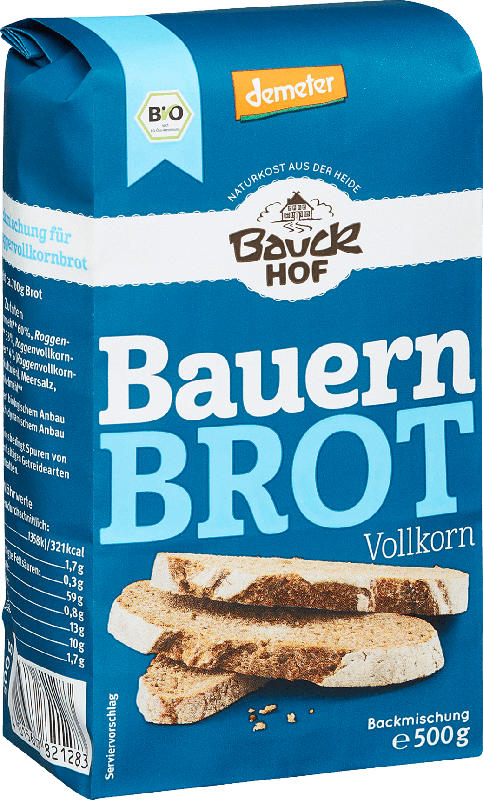 Bauckhof Backmischung für Bauernbrot, Vollkorn, demeter
