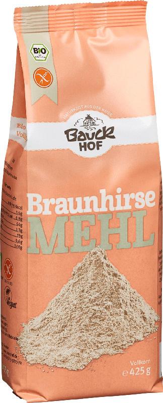 Bauckhof Mehl, Braunhirse-Mehl Vollkorn, glutenfrei