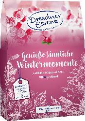Dresdner Essenz Geschenkset Genieße sinnliche Wintermomente Duschgel 200ml + Handcreme 75ml + Pflegebad 60g + Gesichtsseife