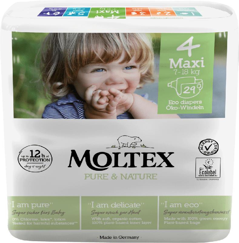 Moltex Windeln Pure & Nature Größe 4 Maxi, 7-18 kg