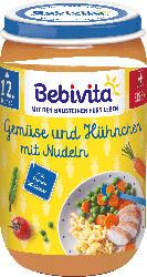 Bebivita Menü Gemüse und Hühnchen mit Nudeln ab 12. Monat