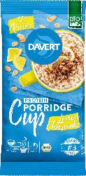 Davert Zwischenmahlzeit, Porridge-Cup, Protein, Lemon Cheesecake
