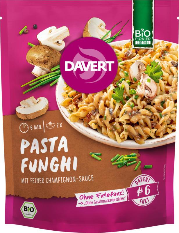 Davert Fertiggericht, Pasta Funghi, Pilze
