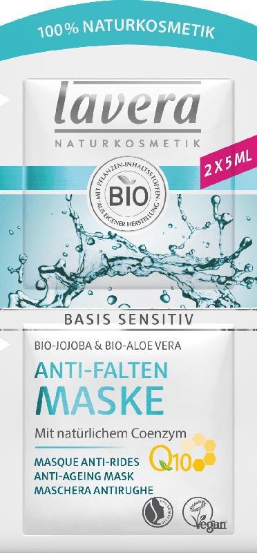 Lavera Maske Basis Sensitiv Q10 mit Bio-Jojoba, Bio-Aloe Vera & Coenzym Q10