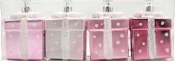 Dekorieren & Einrichten Baumschmuck Geschenke metallic pink-rosa-weiß