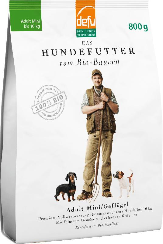 Defu Trockenfutter für Hunde, Bio Geflügel, Adult kleine Hunde