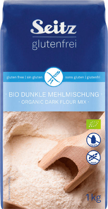 Seitz glutenfrei Mehl, Mehlmischung dunkel, glutenfrei