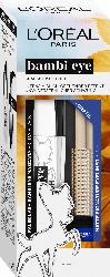 L'ORÉAL PARIS Geschenk-Set False Lash Bambi Mascara Extra Black + Gratis Eyeliner Matte Signature 02 Blue