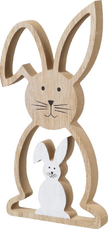 Dekorieren & Einrichten Holzaufsteller Hase 2in1 natur-weiß
