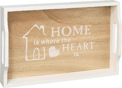 Dekorieren & Einrichten Holztablett 'Home is where the heart is'