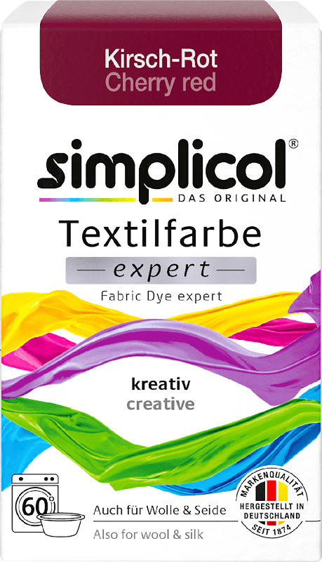 Simplicol Textilfarbe expert Kirsch-Rot