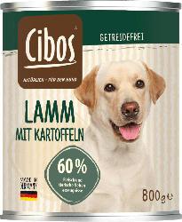 Cibos Nassfutter für Hunde, Adult, Lamm mit Kartoffel